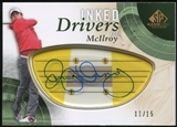 2014 Upper Deck SP Game Used Inked Drivers Blonde Persimmon #IDRM Rory McIlroy 11/15