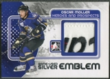 2010/11 ITG Heroes and Prospects #M35 Oscar Moller Game Used Silver Emblem /3