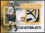 2010/11 ITG Heroes and Prospects #M03 Brayden Schenn Game Used Silver Emblem /3