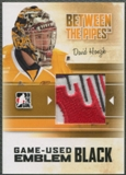 2010/11 Between The Pipes #M11 David Honzik Game Used Black Emblem /6