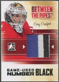 2010/11 Between The Pipes #M07 Corey Crawford Game Used Black Number /6
