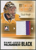 2010/11 Between The Pipes #M11 David Honzik Game Used Black Number /6