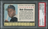 1961 Post Baseball #132 Roberto Clemente Hand Cut PSA Authentic