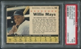 1961 Post Baseball #145 Willie Mays Perforated PSA 7 (NM)