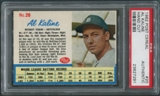 1962 Post Baseball #20 Al Kaline Hand Cut PSA Authentic