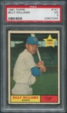 1961 Topps Baseball #141 Billy Williams Rookie PSA 3 (VG)