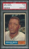 1961 Topps Baseball #150 Willie Mays PSA 3 (VG)