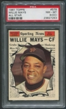 1961 Topps Baseball #579 Willie Mays All Star PSA 8 (NM-MT) (OC)