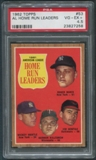 1962 Topps #53 AL Home Run Leaders Roger Maris Mickey Mantle Jim Gentile Harmon Killebrew PSA 4.5 (VG-EX+)