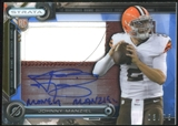 2014 Topps Strata Clear Cut Rookie Relic Autographs Sapphire #CCARJM Johnny Manziel 3/75