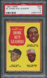 1962 Topps Baseball #54 NL Home Run Leaders Orlando Cepeda Willie Mays Frank Robinson PSA 5 (EX)