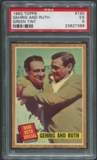 1962 Topps Baseball #140 Babe Ruth Special Gehrig and Ruth Green Tint PSA 5 (EX)