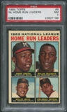 1964 Topps Baseball #9 NL Home Run Leaders Hank Aaron Willie McCovey Willie Mays Orlando Cepeda PSA 7 (NM)
