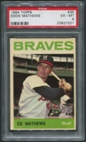 1964 Topps Baseball #35 Eddie Mathews PSA 6 (EX-MT)