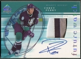2005/06 SP Authentic #132 Corey Perry Limited Rookie Patch Auto #051/100