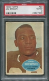 1960 Topps Football #23 Jim Brown PSA 2 (GOOD)