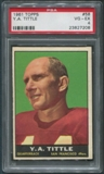 1961 Topps Football #58 Y.A.Tittle PSA 4 (VG-EX)