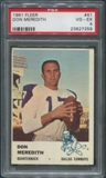 1961 Fleer Football #41 Don Meredith Rookie PSA 4 (VG-EX)