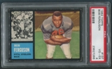 1962 Topps Football #137 Bob Ferguson Rookie SP PSA 4 (VG-EX)