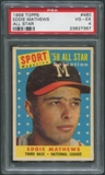 1958 Topps Baseball #480 Eddie Mathews All Star PSA 4 (VG-EX)