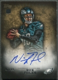 2012 Topps Inception #102 Nick Foles Gold Rookie Auto #47/99
