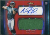 2012 Finest #AJRNF Nick Foles Red Refractor Rookie Jumbo Jersey Auto #23/25