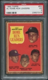 1962 Topps #53 AL Home Run Leaders Roger Maris Mickey Mantle Jim Gentile Harmon Killebrew PSA 3 (VG)