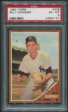1962 Topps Baseball #338 Billy Gardner PSA 6 (EX-MT)