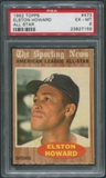 1962 Topps Baseball #473 Elston Howard All Star PSA 6 (EX-MT)