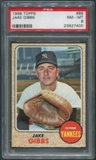 1968 Topps Baseball #89 Jake Gibbs PSA 8 (NM-MT)