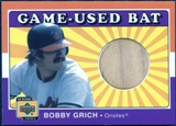 2001 Upper Deck Decade 1970's Game Bat #BBG Bobby Grich
