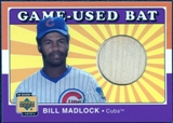 2001 Upper Deck Decade 1970's Game Bat #BBIM Bill Madlock