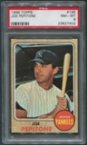 1968 Topps Baseball #195 Joe Pepitone PSA 8 (NM-MT)