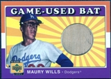 2001 Upper Deck Decade 1970's Game Bat #BMW Maury Wills