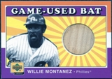 2001 Upper Deck Decade 1970's Game Bat #BWM Willie Montanez