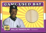 2001 Upper Deck Decade 1970's Game Bat #BWR Willie Randolph