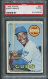 1969 Topps Baseball #20 Ernie Banks PSA 2 (GOOD)