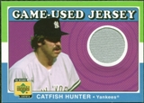 2001 Upper Deck Decade 1970's Game Jersey #JCH Catfish Hunter