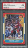 1986/87 Fleer Basketball #82 Hakeem Olajuwon Rookie PSA 9 (MINT)