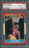1986/87 Fleer Basketball #31 Julius Erving PSA 10 (GEM MT)