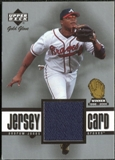 2001 Upper Deck Gold Glove Game Jersey #GGAJ Andruw Jones