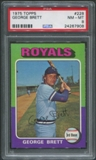 1975 Topps Baseball #228 George Brett Rookie PSA 8 (NM-MT)