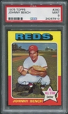 1975 Topps Baseball #260 Johnny Bench PSA 9 (MINT)