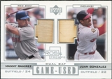 2001 Upper Deck Pros and Prospects Game-Used Dual Bat #PPRG M.Ramirez Sox/J.Gonzalez