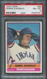 1976 Topps Baseball #98 Dennis Eckersley Rookie PSA 8 (NM-MT)