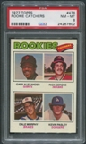 1977 Topps #476 Rookie Catchers Gary Alexander Rick Cerone Dale Murphy Kevin Pasley Rookie PSA 8 (NM-MT)