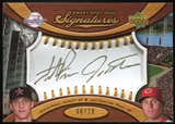 2007 Upper Deck Sweet Spot Dual Signatures Gold Stitch Gold Ink #PH Hunter Pence Josh Hamilton 6/10