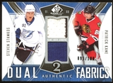 2009/10 Upper Deck SP Game Used Authentic Fabrics Dual #AF2KS Patrick Kane Steven Stamkos 99/100