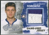 2012/13 ITG Forever Rivals #M25 Nik Antropov Gold Game Used Jersey /10