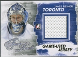 2012/13 ITG Forever Rivals #M16 James Reimer Gold Game Used Jersey /10